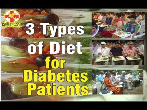 3 TYPES OF DIET FOR DIABETES PATIENTS