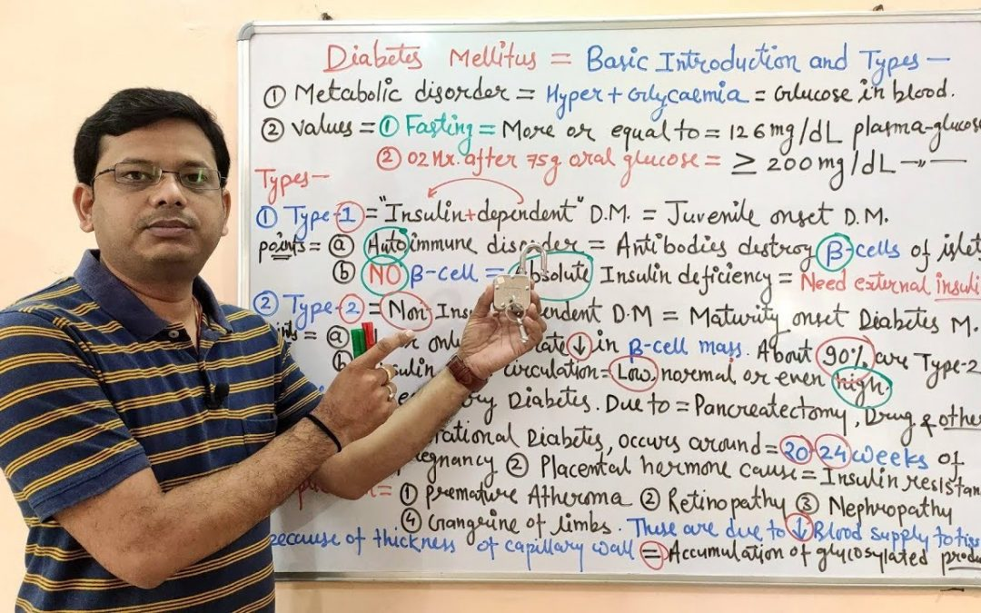 Diabetes Mellitus (Part-01)- Introduction, Types and Causes in HINDI