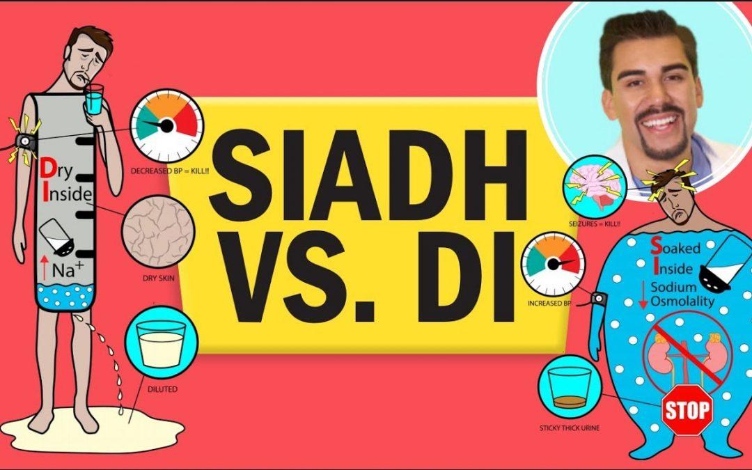 SIADH vs DI (Diabetes Insipidus) for nursing RN PN NCLEX