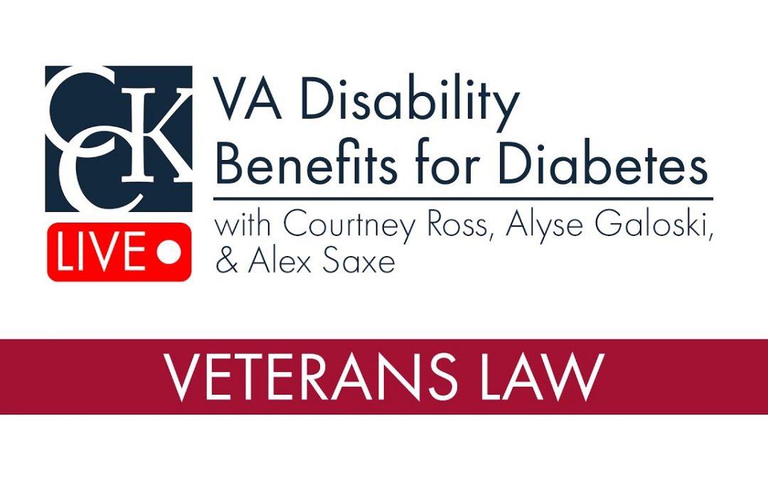 VA Disability Benefits for Diabetes