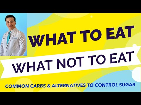What to eat for diabetes & what not to eat for diabetes. Low Carb alternatives to high carb foods.